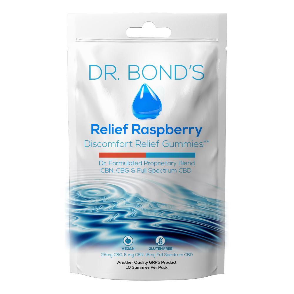 Dr. Bond's Relief Raspberry Discomfort Relief Gummies